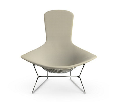 Bertoia Bird Chair with Full Cover in Classic Bouclé