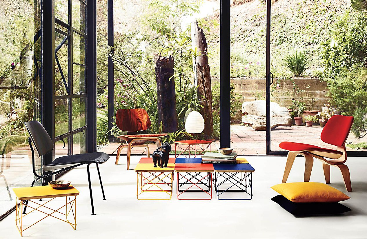 Eames Molded Plywood Lounge Chair With Metal Base Herman