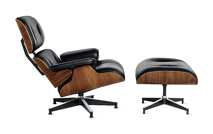 eames tall lounge chair and ottoman design within reach. Black Bedroom Furniture Sets. Home Design Ideas