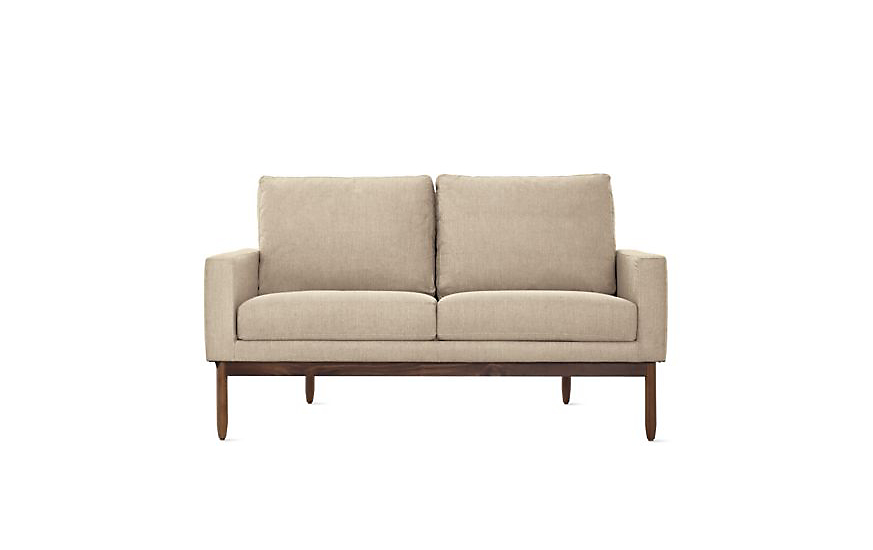 raleigh two seater sofa design within reach rh dwr com two seater sofa bed two seater sofa dimensions