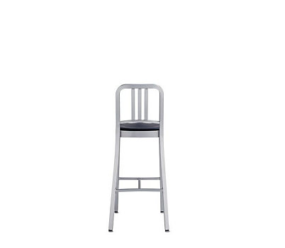 1006 Navy® Barstool with Wood or Vinyl Seat