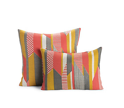 Textured Stripe Pillow, Pink