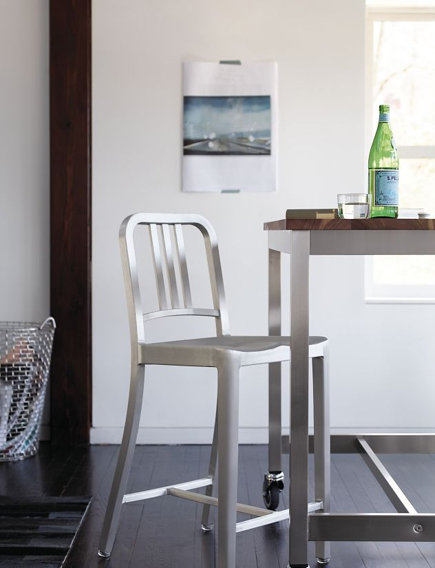 Peachy 1006 Navy Counter Stool Caraccident5 Cool Chair Designs And Ideas Caraccident5Info