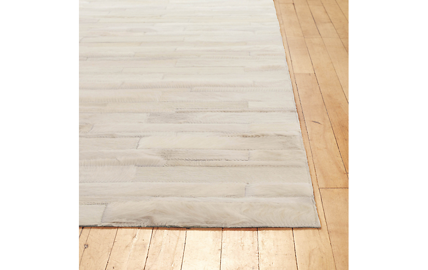 Thin Strip Cowhide Rug