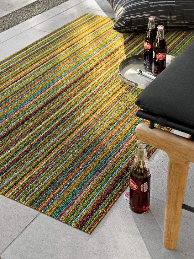 Chilewich Skinny Stripe Shag Floor Runner Rugs Design