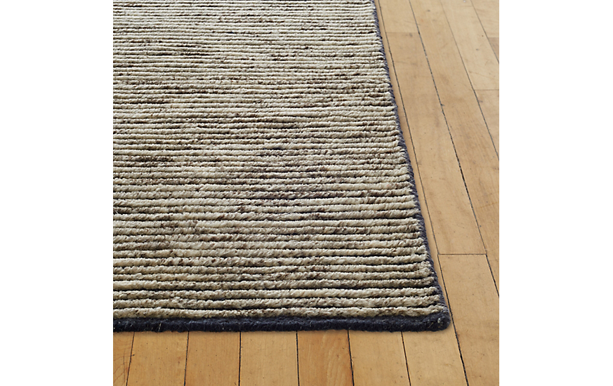 Woven Esker Rug, Grey, 6' x 9' at DWR Product Image