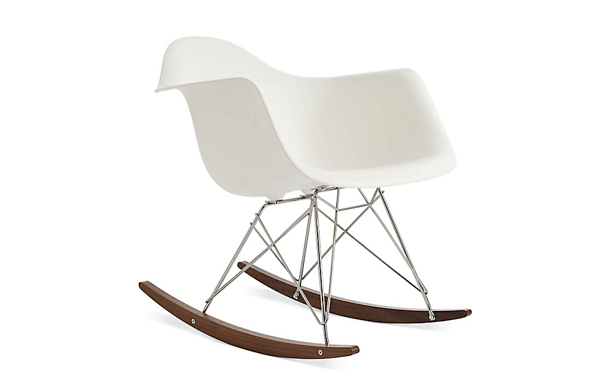 Eames molded plastic armchair rocker base herman miller for Chaises rar charles eames
