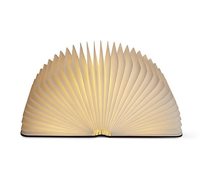 Lumio Wood Book Lamp
