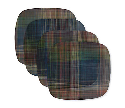 Chilewich Plaid Abstract Placemats, Set of 4