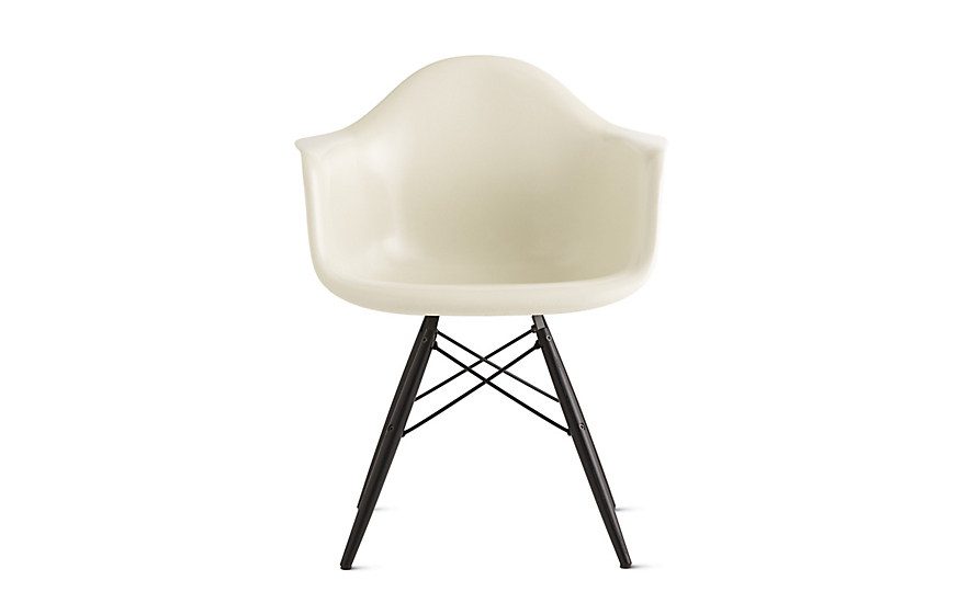 Elegant Eames® Molded Fiberglass Dowel Leg Armchair (DFAW)