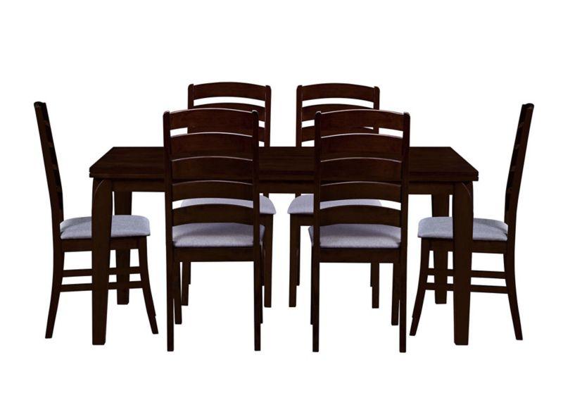 Comedor 6 sillas Valencia wengue Decomuebles - Easy.cl