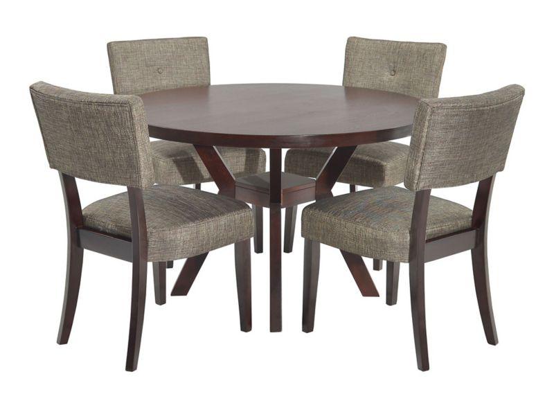 Comedor 4 Sillas Café Oscuro M Design