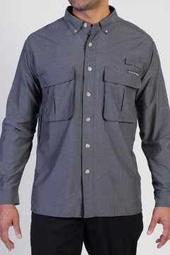 Air Strip LS Shirt, Dk Pebble, medium