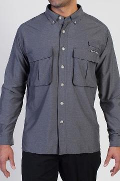 Men's Air Strip Long-Sleeve Shirt, Dk Pebble, medium
