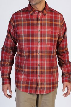 Kegon Plaid L/S, Tango, medium