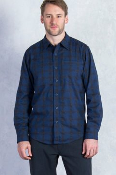 Calator Plaid L/S, Navy, medium