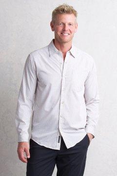 Salida Plaid Shirt L/S, Bone, medium
