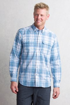 Ventana Plaid L/S, Deep Water, medium