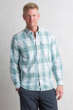 Ventana Plaid L/S, Gecko, medium