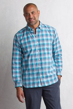 Sol Cool Leman Plaid L/S, Deep Water, medium
