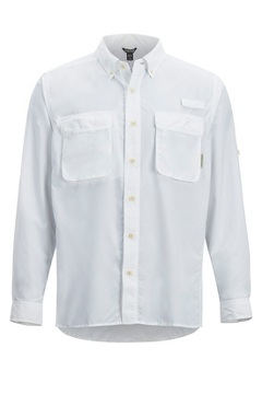 Men's Air Strip Long-Sleeve Shirt, White, medium