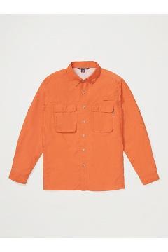 Men's Air Strip Long-Sleeve Shirt, Gold Flame, medium