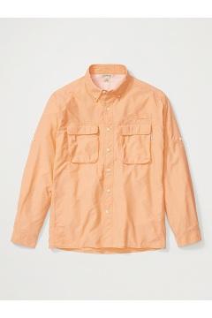 Men's Air Strip Long-Sleeve Shirt, Clementine, medium