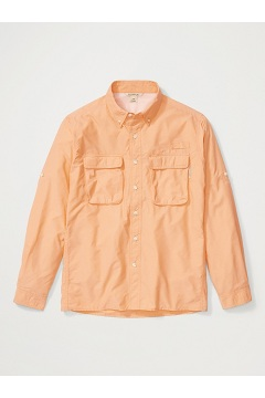 Men's Air Strip Long-Sleeve Shirt, Clementine, medium