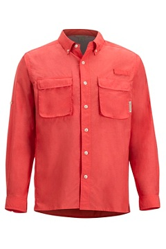 Air Strip LS Shirt, Spiced Coral, medium