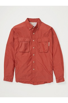 Men's Air Strip Long-Sleeve Shirt, Rust, medium