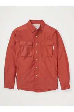 Men's Air Strip Long-Sleeve Shirt, Rust, medium