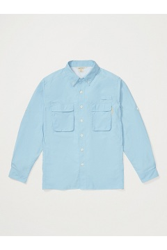 Men's Air Strip Long-Sleeve Shirt, Aleutian, medium