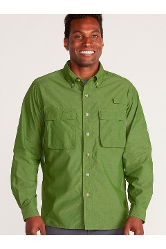 Men's Air Strip Long-Sleeve Shirt, Alpine Green, medium