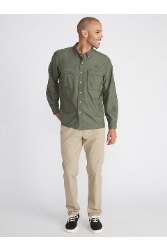 Men's Air Strip Long-Sleeve Shirt, Honeydew, medium