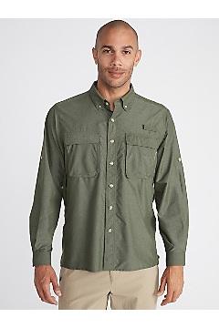 Men's Air Strip Long-Sleeve Shirt, Alpine Green, medium