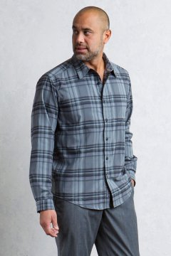 Kensington Plaid L/S, Black, medium