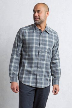 Okanagan Macro Check L/S, Black, medium