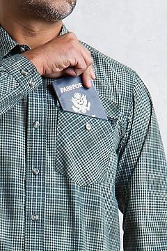 Okanagan Mini Check L/S, Timberline, medium