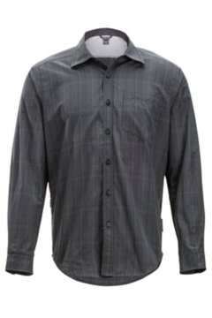 Salida Ombre Plaid L/S, Black, medium