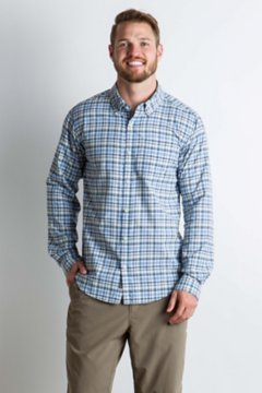 Sol Cool Chill Plaid L/S, Indigowash, medium