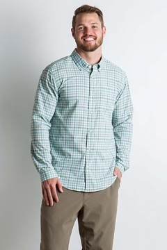 Sol Cool Chill Plaid L/S, Dusty Sage, medium