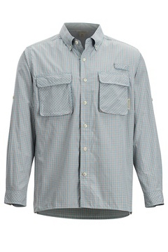 Air Strip Check Plaid LS Shirt, Citadel, medium