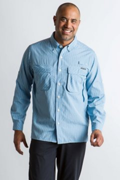 Air Strip Check Plaid L/S, Lt Lapis, medium