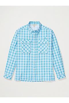 Men's Air Strip Check Plaid Long-Sleeve Shirt, Blue Bell, medium