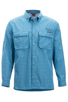 Air Strip Check Plaid LS Shirt, Dk Aegean, medium