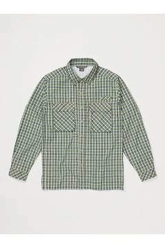 Men's Air Strip Check Plaid Long-Sleeve Shirt, Alpine Green, medium