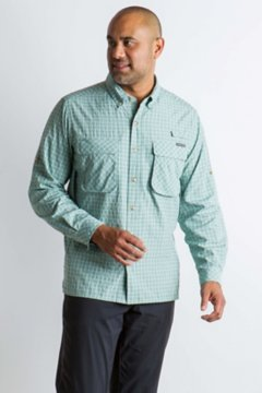 Air Strip Check Plaid LS Shirt, Dusty Sage, medium