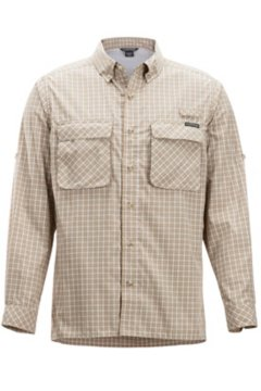 Air Strip Check Plaid LS Shirt, Lt Khaki, medium