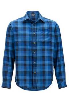Okanagan Check L/S, Navy, medium
