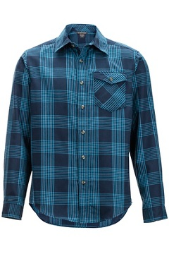 Okanagan Plaid L/S, Navy, medium